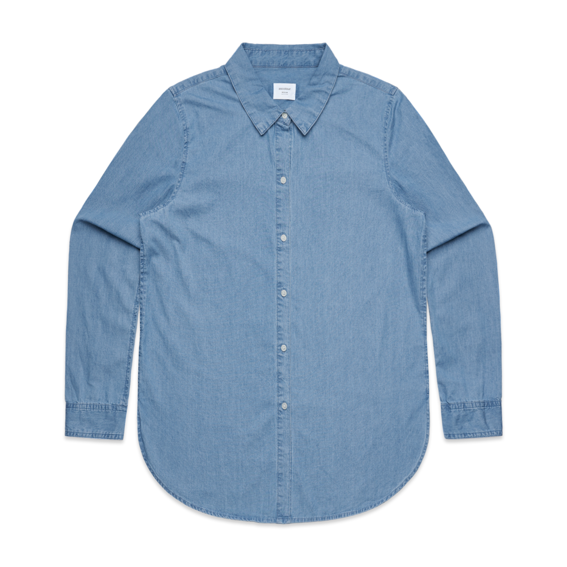 4042 WOMENS BLUE DENIM SHIRT